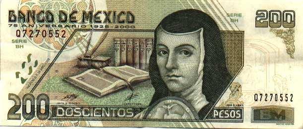 Billete 200 Pesos Mexicanos