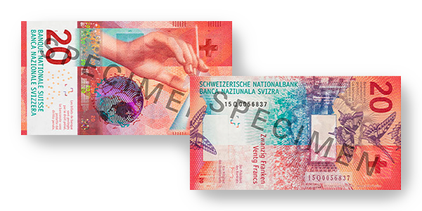 billete 20 francos suizos