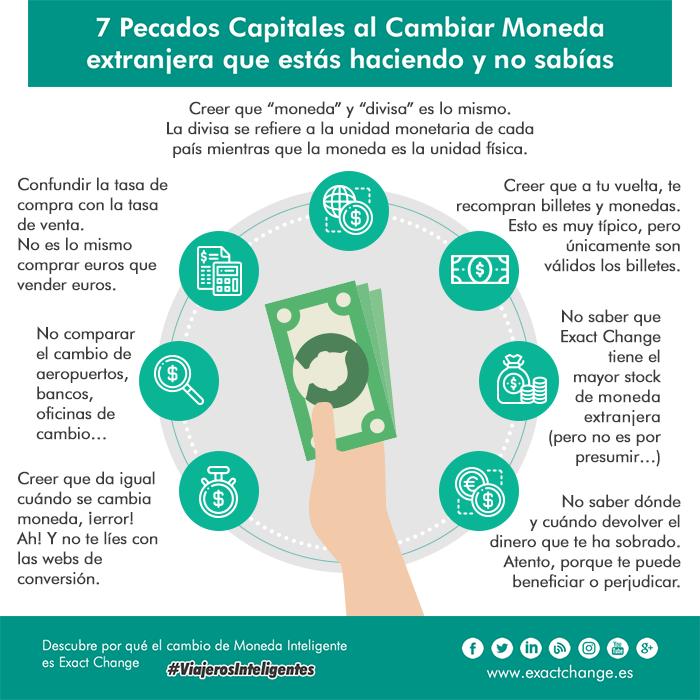 7 Pecados Capitales al Cambiar Moneda extranjera que estás haciendo y no sabías